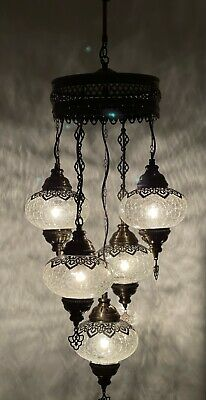 £120 • Buy Turkish Moroccan Glass Mosaic Hanging Lamp Ceiling Light Chandeliers