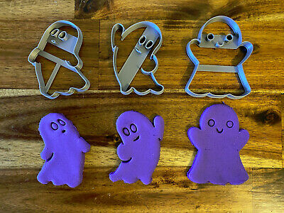 AU9.90 • Buy Halloween Ghost Cookie Cutter Set Of 3 - Cookies, Fondant & Biscuit Mould