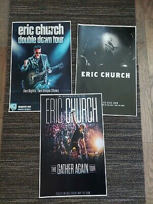 $10 • Buy Eric Church 11x17 Gather Again Double Down Promo Concert Poster CD Tickets