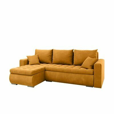 £565 • Buy Universal Corner Sofa Bed In Mustard Colour With Bonell Seat&one Storage Velvet