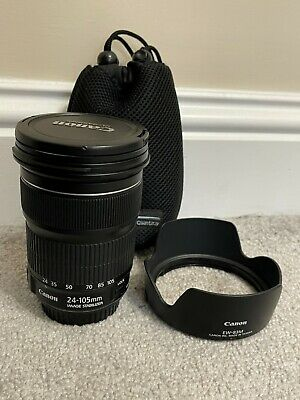 View Details Canon 24-105mm F/3.5-5.6 IS STM EF Full Frame Zoom Lens With Pouch + Canon Hood • 249.99£