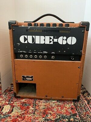 AU319.54 • Buy Vintage 1987 Roland Cube 60 Solid State Electric Guitar Amplifier Working