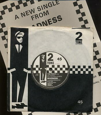 £34.99 • Buy MADNESS - THE PRINCE UK 7  - TWO 2 TONE PAPER LABELS - Ska Mod Suggs Vinyl Cd Lp