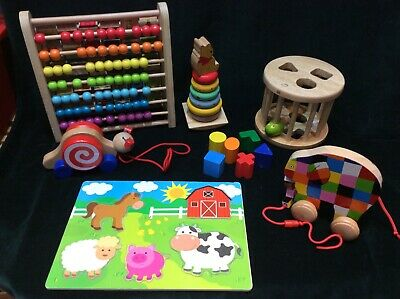 £24.99 • Buy BABY TODDLER Wooden Toy Bundle Learning Montessori All Top Brands & In Ex Cond