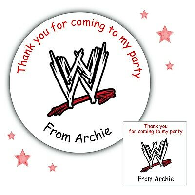 £3.40 • Buy Personalised Birthday Party WWE Wrestling Stickers For Party Bag Thank You