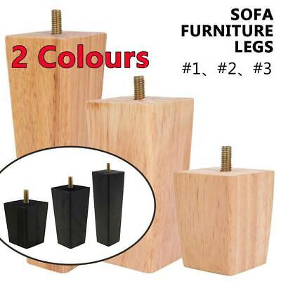 AU24.17 • Buy 4Pcs Wooden Furniture Legs + Pads Turned Feet Lounge Couch Sofa Cabinet Raw AU