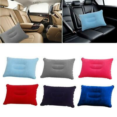 AU5.26 • Buy Inflatable Portable Air Pillow Soft Ultralight PVC Travel Camping Flocked Pillow