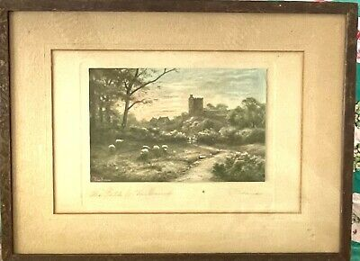 £25.32 • Buy Antique Vintage Hand-Tinted Photograph ELMER KEENE,  The Path To The Church  5x8