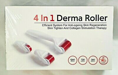 AU24.02 • Buy Derma Roller 4 In 1 DRS 3 Separate Roller Heads 3 Needle Counts New Sealed
