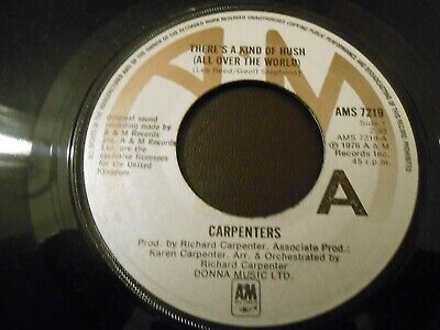 £2 • Buy Carpenters -  There's A Kind Of Hush / Goodbye And I Love You  A&M  7  Single