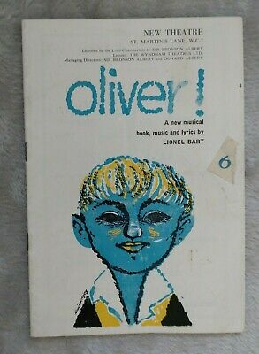 £6.50 • Buy Oliver! A New Musical 1960 Ron Moody New Theatre London Programme