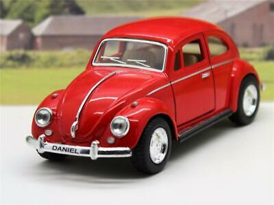 £8.95 • Buy PERSONALISED Plate Gift Red VW Beetle Boys Girl Toy Model Car Christmas Present