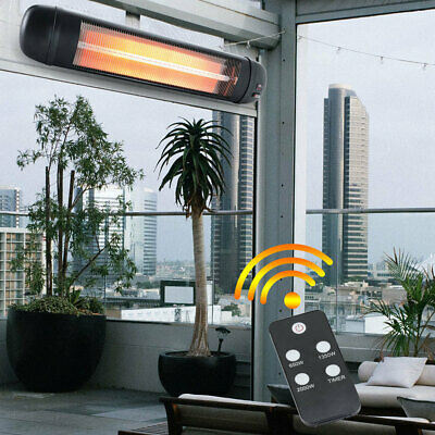 £68.95 • Buy Garden Heater Patio Outdoor Electric Infrared Wall Mounted,Quartz 2KW, Remote UK