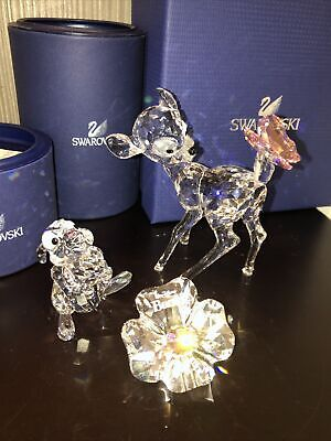 £495 • Buy Swarovski Bambi And Thumper Set With Plaque New In Boxes