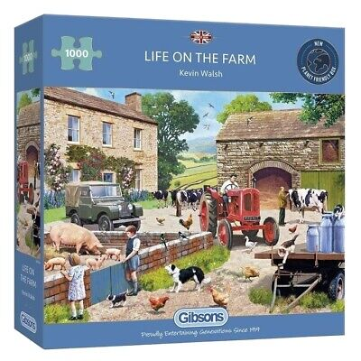 £1.70 • Buy Gibson's 1000 Piece Jigsaw Puzzle Life On The Farm By Kevin Walsh.