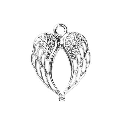 £2.89 • Buy Angel Wing Charms Pendants Silver Plated Pack Of 10