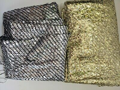 £5 • Buy Gold And Silver Plastic Mesh Fabric