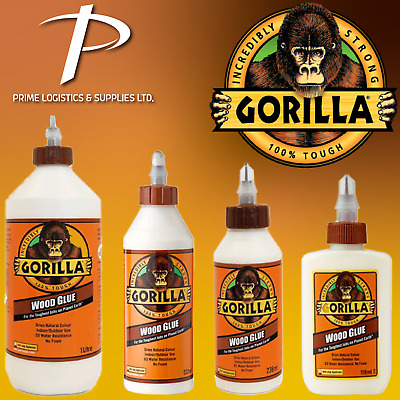 £12.99 • Buy Gorilla Wood Glue Water Resistant PVA Strong Fast Bond Non Foaming Adhesive NEW