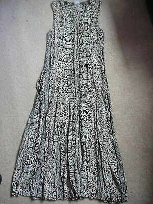 £3.99 • Buy Patterned Button Front Maxi Dress Size 12