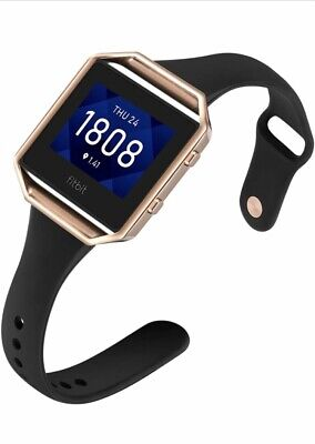 AU15.97 • Buy Aiseve Slim Bands Compatible For Fitbit Blaze, Thin Tapered Silicone Wristband