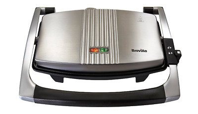 £29.99 • Buy BREVILLE VST025 Sandwich Panini Press And Toastie Maker Stainless Steel