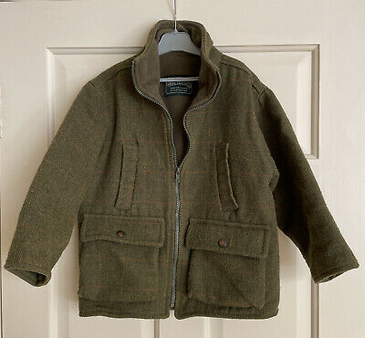 £25 • Buy Shire Classics Children's Tweed Country Shooting Jacket Coat Green Check Size L
