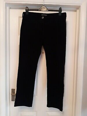 £8.99 • Buy M&S Collection Black Corduroy Straight Leg Trousers 14 Short Worn Once