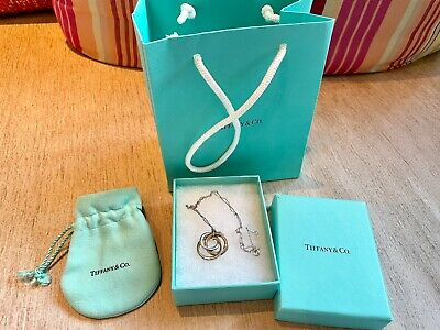 £150 • Buy Tiffany & Co Interlocking Rings Necklace. Olympic Edition. Silver