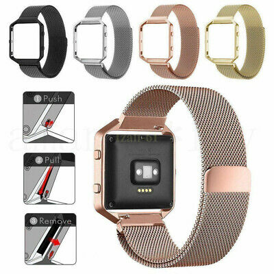 AU19.11 • Buy AU For Fitbit Blaze Strap Replacement Band Metal Buckle Watch Silicone Wristband
