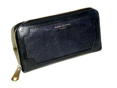 £22.99 • Buy Aspinal Of London Black Leather Continental Zip Around Purse / Wallet
