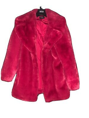 £20 • Buy Marks And Spencer - Size 12 - Fabulous Pink Faux Fur Coat