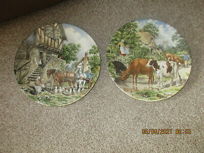 £5 • Buy 2 Wedgwood Life On The Farm Plates A Cooling Drink & Morning In The Farmyard