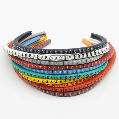 £2.91 • Buy 500PCS EC-0 Cable Wire Marker 0 To 9 For Cable Size 1.5 Sqmm Colored