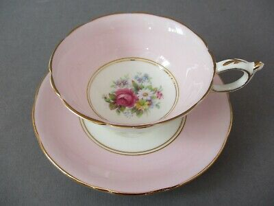 £19.99 • Buy Vintage PARAGON Double Warrant Pale Pink Floral China Tea Cup And Saucer VGC