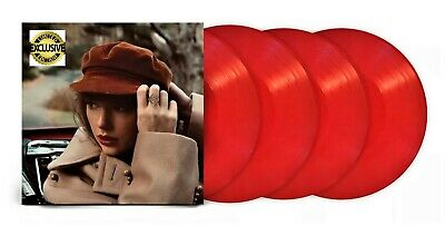 AU101.46 • Buy Taylor Swift Red (Taylor's Version) 4-LP ~ Exclusive Red Vinyl ~ New/Sealed!!!