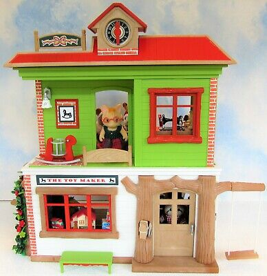 £169.99 • Buy OOAK Sylvanian Newly Decorated Toymaker & Sewing Shop + Furniture Figures Xmas