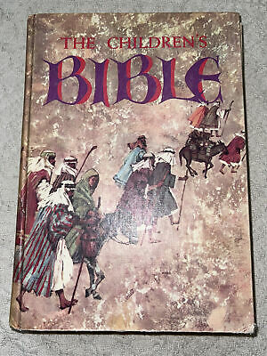 £7.24 • Buy Vintage 1965 Golden The Childrens BIBLE Hard Cover #16520 Illustrated Stories