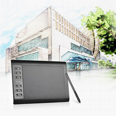AU59.99 • Buy Bosto 1060+ 10''*6'' Digital Graphic Painting Tablet Pad For Drawing Design W0J5