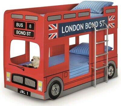 £150 • Buy London Bus Bunk Bed With 2 Mattresses -excellent Condition