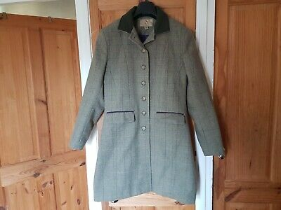 £30 • Buy Country Style Tweed Coat Size 10-12 Field, Riding Jacket Wool