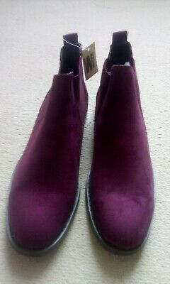 £15 • Buy Next Burgundy Chelsea Ankle Boots Size 6.5 W New