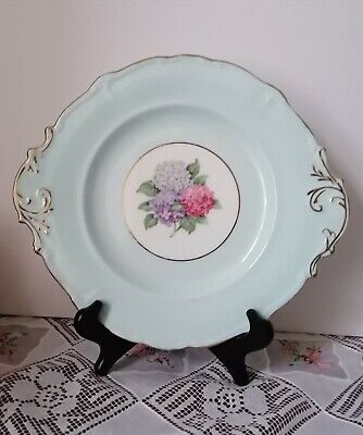 £10.99 • Buy Vintage Paragon Bone China Hydrangea Cake Plate H M The Queen  H M Queen Mary