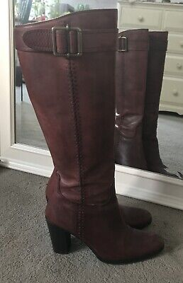 £8.90 • Buy Cinti Burgundy Leather Boots Size 4