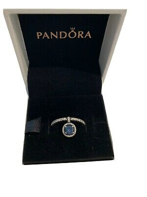 AU70 • Buy Pandora Dangling Blue Sparkle Ring New -Size 54 With Box