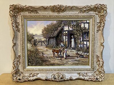 £149.99 • Buy Original Watercolour Painting LIFE ON THE FARM By GORDON LEES Detailed Frame