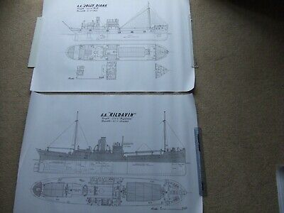 £6.95 • Buy 2 Large Steam Ship Drawing Prints. Steel Screw Cargo Freighter Ship Steamers 1