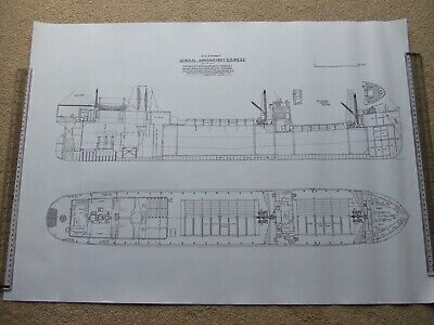 £50 • Buy 12 Large Steam Ship Drawing Prints. Steel Screw Cargo Freighter Ship Steamers 1A