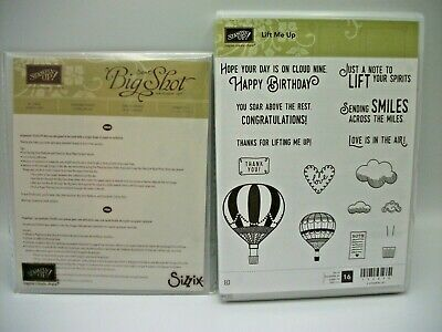 £13.12 • Buy Stampin' Up! Lift Me Up Red Rubber Stamp Set & Up & Away Companion Die Set NEW
