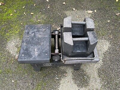 £50 • Buy Coal Scales And Cast Iron 25kg Weights Lifting Vintage *Good Working Order