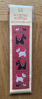 £5.50 • Buy Scotties And Westies Cross Stitch Bookmark Kit By Textile Heritage